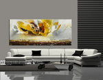Large Ocean Art Oil Painting on Canvas Modern Wall Art - Seascape Painting 4 - LargeModernArt
