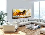 Large Ocean Art Oil Painting on Canvas Modern Wall Art Seascape Painting - Seascape 2 - LargeModernArt