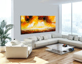 Large Ocean Art Oil Painting on Canvas Modern Wall Art Seascape - Ocean Journey 19 - LargeModernArt