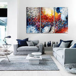 Paintings for Sale Abstract Paintings Jackson Pollock Multicolor Drip Style Art on Canvas, large Wall Art - Struck by Lightning - LargeModernArt