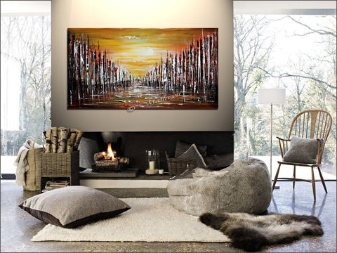 Abstract Paintings For Sale  | Cityscape Original Paintings Modern Art For Luxury Homes | The Urban City - LargeModernArt