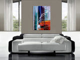 Multicolored Art On Canvas Original Artwork For Sale, Modern Interior Decor - Unreal Beauty 10 - LargeModernArt