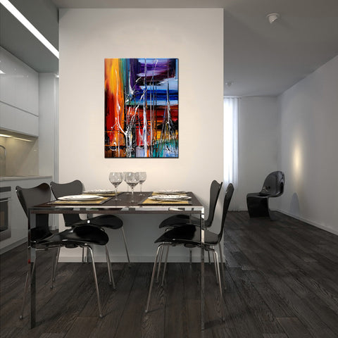 Wall Art Paintings For Sale Original Artwork On Canvas, Extremely Modern Style Interior Decor - Unreal Beauty 12 - LargeModernArt