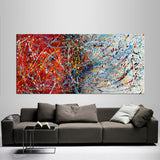 Abstract Angel Paintings | Jackson Pollock Style | Large Modern Art - Vintage Beauty 103 - LargeModernArt