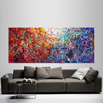 Jackson Pollock Red Painting extra large abstract art Modern Wall oversize canvas - Vintage Beauty 110 - LargeModernArt