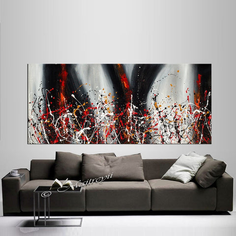 Painting Jackson Pollock Multiple Size Drip Style Abstract art on Canvas, large Wall Art - Vintage Beauty 139 - LargeModernArt