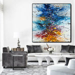 Where to buy Jackson Pollock Style Painting - Large Modern Art - Vintage Beauty 149 - LargeModernArt