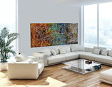 Jackson Pollock Style | Abstract artwork large oil painting on canvas modern wall art - Vintage Beauty 19 - LargeModernArt