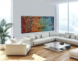 Jackson Pollock Style | Abstract artwork large oil painting on canvas luxury Homes - Vintage Beauty 20 - LargeModernArt