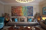 Jackson Pollock Style | Abstract artwork large oil painting on canvas for luxury Homes - Vintage Beauty 26 - LargeModernArt