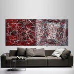 Jackson Pollock Style | Abstract artwork large oil painting on canvas oversize luxury Homes - Vintage Beauty 33 - LargeModernArt