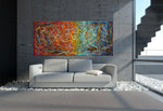 Jackson Pollock Style | Abstract artwork large oil painting on canvas modern wall art - Vintage Beauty 40 - LargeModernArt