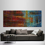 Jackson Pollock Style | Abstract artwork large oil painting on canvas oversize luxury Homes - Vintage Beauty 48 - LargeModernArt
