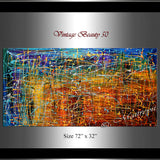 Jackson Pollock Style | Abstract artwork large oil painting on canvas oversize luxury Homes - Vintage Beauty 50 - LargeModernArt