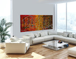 Jackson Pollock Style | Abstract artwork large oil painting on canvas modern wall art - Vintage Beauty 54 - LargeModernArt