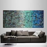 Jackson Pollock Style | Abstract artwork large oil painting on canvas modern wall art - Vintage Beauty 55 - LargeModernArt