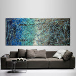 Jackson Pollock Style | Abstract artwork large oil painting on canvas modern wall art - Vintage Beauty 56 - LargeModernArt