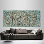 Jackson Pollock Style | Abstract artwork large oil painting oversize luxury Homes - Vintage Beauty 60 - LargeModernArt