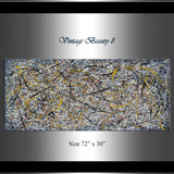 Jackson Pollock Style | Abstract artwork large oil painting on canvas modern wall art - Vintage Beauty 8 - LargeModernArt