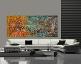 Jackson Pollock Style | Abstract artwork large oil painting on canvas modern wall art oversize luxury Homes - Vintage Beauty 9 - LargeModernArt