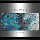 Abstract Angel Paintings | Jackson Pollock Style | Large ModernA rt - Vintage Beauty 106 - LargeModernArt