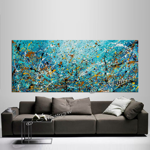 original-paintings-for-sale-jackson-pollock-style-abstract-art-largemodernart - Vintage Beauty 109 - LargeModernArt