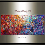 Abstract Angel Paintings | Jackson Pollock Style | Large Modern Art - Vintage Beauty 110 - LargeModernArt