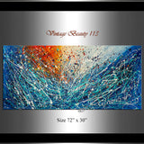 Abstract Angel Paintings | Jackson Pollock Style | Large Modern Art - Vintage Beauty 113 - LargeModernArt