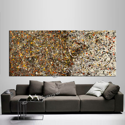 Wall art Paintings | Jackson Pollock | LargeModernArt | Worldwide Shipping - Vintage Beauty 114 - LargeModernArt