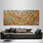 Abstract Angel Paintings | Jackson Pollock Style | Large Modern Art - Vintage Beauty 116 - LargeModernArt