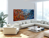 Abstract Angel Paintings | Jackson Pollock Style | Large Modern Art - Vintage Beauty 119 - LargeModernArt