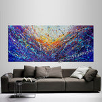 Abstract Angel Paintings | Jackson Pollock Style | Large Modern Art - Vintage Beauty 122 - LargeModernArt