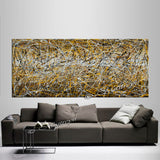 Abstract Angel Paintings | Jackson Pollock Style | Large Modern Art - Vintage Beauty 123 - LargeModernArt