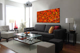 Jackson Pollock Red Painting extra large abstract art Modern Wall oversize canvas - Vintage Beauty 137 - LargeModernArt