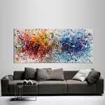 Father of modern art Jackson Pollock Style Large Abstract Paintings Red Blue Modern Wall Art - Vintage Beauty 142 - LargeModernArt
