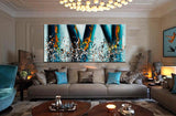Jackson Pollock Style artwork for sale large Oil Painting on Canvas - Modern paintings luxury homes - LargeModernArt