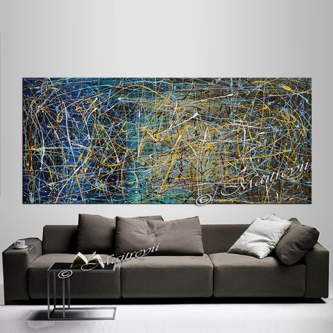 Large Paintings Online | Jackson Pollock | Large Modern Art - Vintage Beauty 66 - LargeModernArt