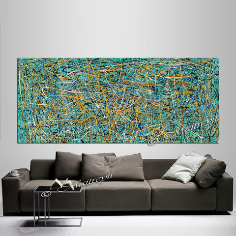 Abstract Art Modern Paintings | Jackson Pollock Style | Large Modern Art - Vintage Beauty 75 - LargeModernArt