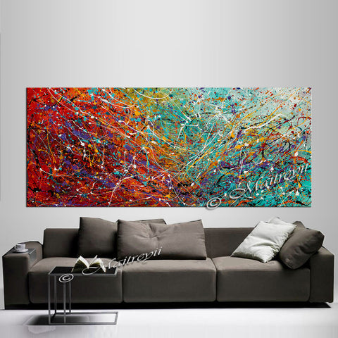 Abstract Angel Paintings | Jackson Pollock Style | Large Modern Art - Vintage Beauty 99 - LargeModernArt