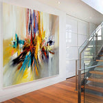 Large Modern Art Oil Painting on Canvas Modern Wall Art oversize Painting - Amazing Abstract 11 - LargeModernArt