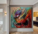 Bohemian Painting Modern Art for sale Online - Original Oil Painting on Canvas - Abstract Wall Art for Luxury Homes - LargeModernArt