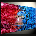 Large Landscape artwork Oil Painting on Canvas - Modern Wall Blissful Sunrise 2 - LargeModernArt