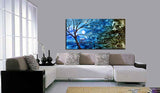 Large Landscape artwork Oil Painting on Canvas - Modern Wall Blissful Sunrise 3 - LargeModernArt
