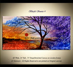 Large Landscape artwork Oil Painting on Canvas - Modern Wall Blissful Sunrise 4 - LargeModernArt