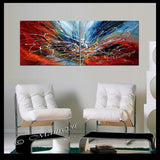 Large Modern Art Oil Painting on Canvas - Modern Wall Art Amazing Abstract - LargeModernArt