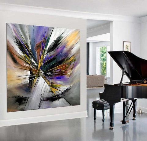Large Modern Art Abstract Wall Oil Painting On Canvas For Luxury Home Decor Original Art For Sale - LargeModernArt