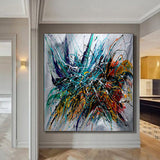 Abstract Modern Art Modern Wall Art Amazing Abstract Gold Flow Painting -  Holiday Joy - LargeModernArt