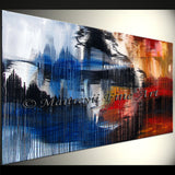 Large Modern Art Oil Painting on Canvas Modern Wall Art Amazing Abstract Painting - LargeModernArt