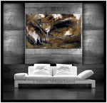 Abstract Modern Art Oil Painting on Canvas Modern Wall Art Amazing Melting Rock Painting - LargeModernArt