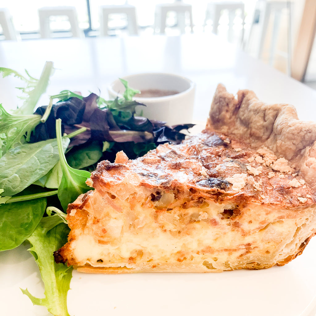 Quiche Slice + Salad